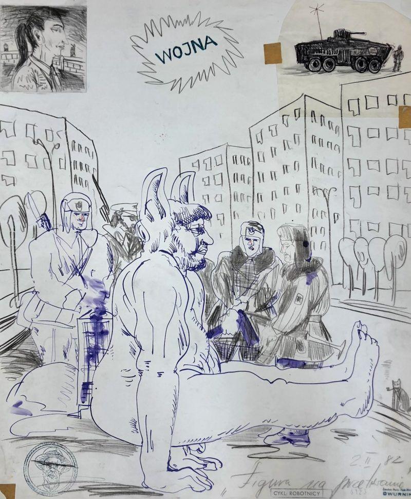 """""""Figura na przetrwanie"""", 1982"""